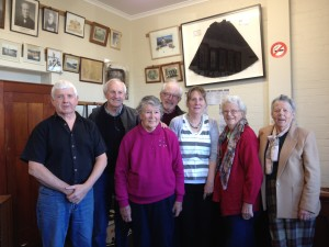 Sorell Historical Society outgoing and incoming office bearers at the AGM 21 August 2014 (L-R) Tony Bruce-Mullins, Graeme Evans, Gwen Reynolds, Peter Macfie, Peta Kelly, Barbara Kregor, Cath Griffiths